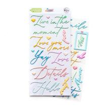 Pinkfresh Studio - My Favorite Story Puffy Phrase Stickers