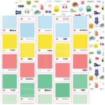Pinkfresh Studio - Super Cool 12x12 Paper - Hashtag