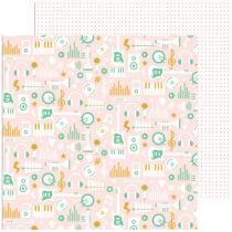 Pinkfresh Studio - Super Cool 12x12 Paper - Choir