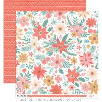 Cocoa Vanilla Studio - Joyful 12x12 Paper - Tis The Season