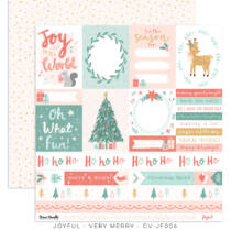 Cocoa Vanilla Studio - Joyful 12x12 Paper - Very Merry