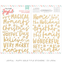 Cocoa Vanilla Studio - Joyful Puffy Title Stickers