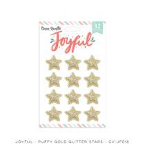 Cocoa Vanilla Studio - Joyful Puffy Gold Glitter Stars