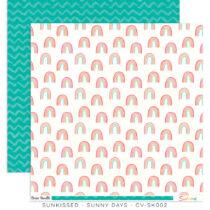 Cocoa Vanilla Studio - Sunkissed 12x12 Paper - Sunny Days