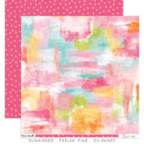 Cocoa Vanilla Studio - Sunkissed 12x12 Paper - Feelin' Fine