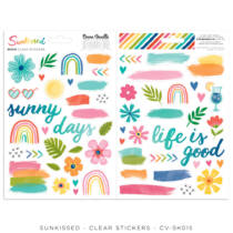 Cocoa Vanilla Studio - Sunkissed Clear Stickers
