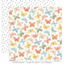 Cocoa Vanilla Studio - These Days 12x12 Paper - Take Flight