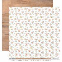 Cocoa Vanilla Studio - These Days 12x12 Paper - Pretty Posies