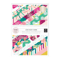 Pink Paislee - And Many More 6x8 Paper Pad with Champagne Foil (36 Sheets)