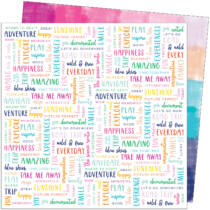 American Crafts - Paige Evans - Go the Scenic Route 12x12 Paper - Paper 21