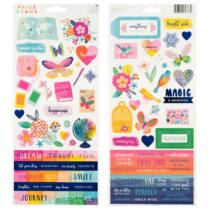 American Crafts - Paige Evans - Go the Scenic Route 6x12 Sticker Sheet (86 Piece)