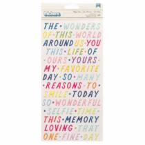 American Crafts - Paige Evans - Wonders Phrases Thickers - Happy Day (329 Piece)