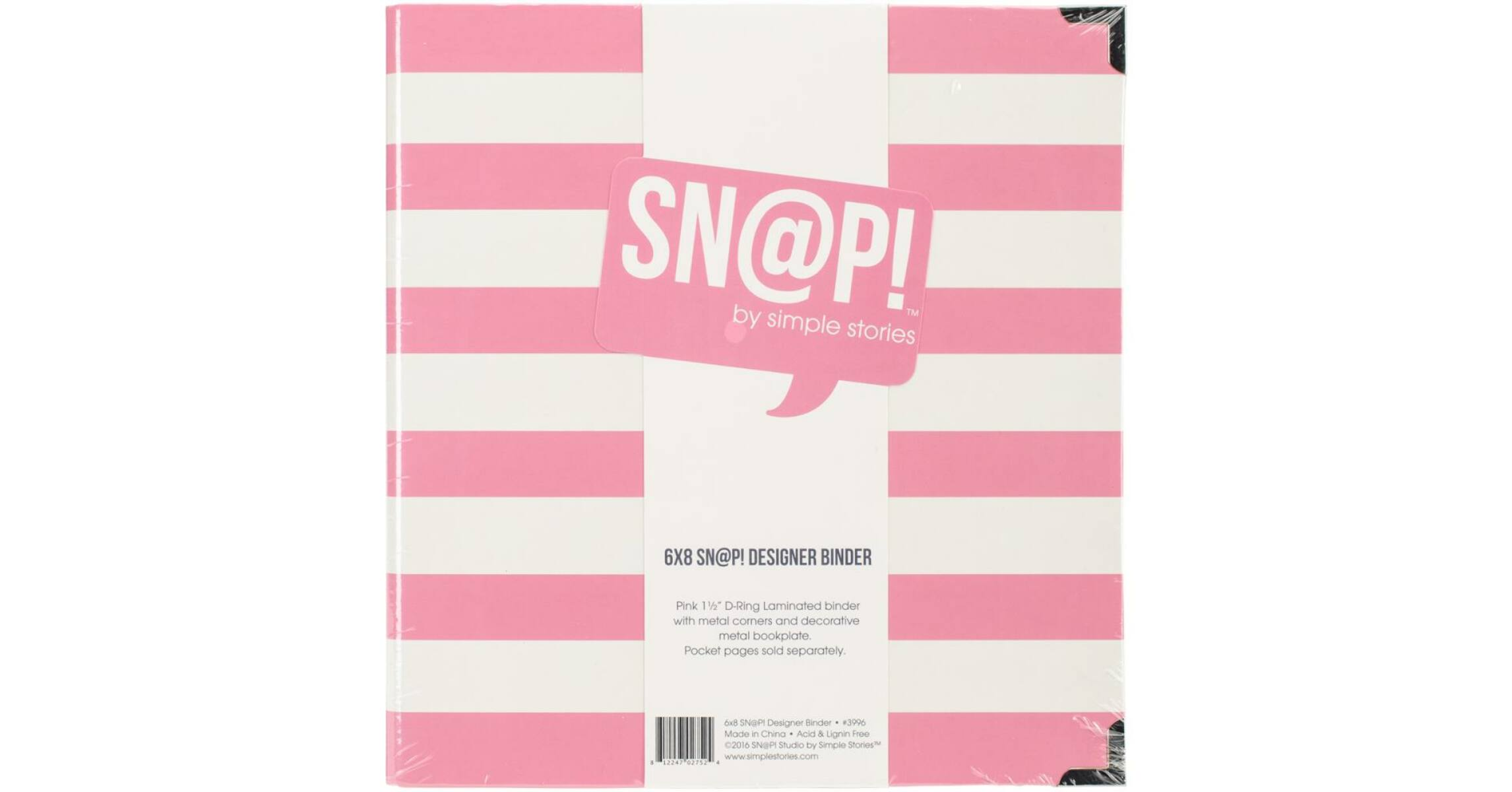 10-Pack Insta Pocket Pages for 6 by 8-Inch Binders with 2 by 2-Inch Pockets Simple Stories Snatp