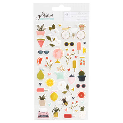 1Canoe2 - Goldenrod Puffy Stickers (44 Piece)