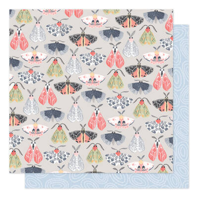 1Canoe2 - Twilight 12x12 Patterned Paper -  Flight of Moths
