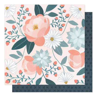 1Canoe2 - Twilight 12x12 Patterned Paper - Peony