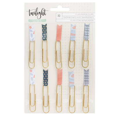1Canoe2 - Twilight Patterned Flag Paper Clips