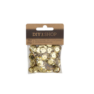 American Crafts - DIY 4 Gold Sequins