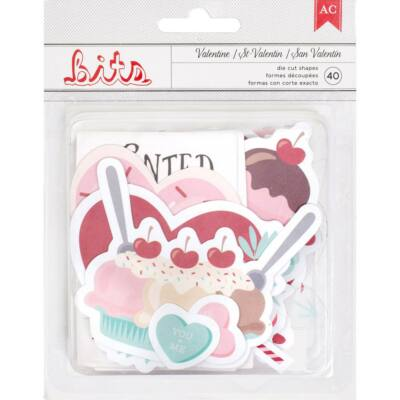 American Crafts Valentine Ephemera Die Cut