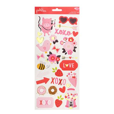 Pebbles My Funny Valentine 6x12 Stickers