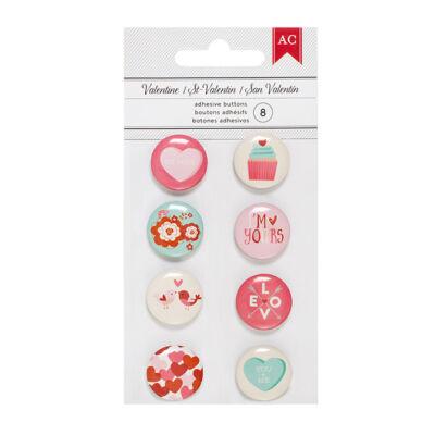 American Crafts Valentine Mini Flair Button