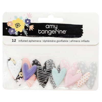 Amy Tangerine - Shine On Mini Inflated Ephemera 12/Pkg