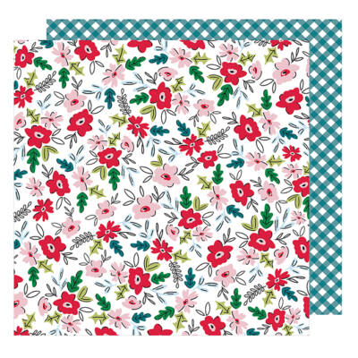 American Crafts - Sweater Weather 12x12 Paper - January Blossoms