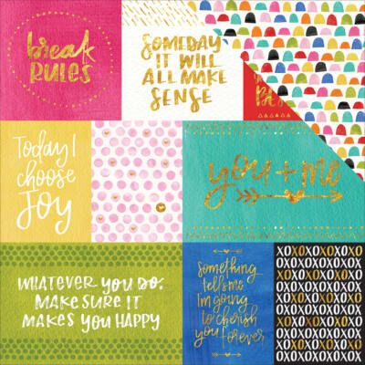 Bella BLVD - Make Your Mark 12x12 Double Sided Paper - Daily Details