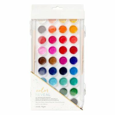 Crate Paper - Color Reveal Watercolor Set - 36 Colors