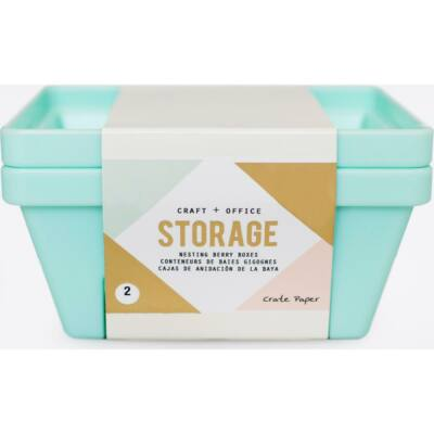 Crate Paper Desktop Storage Nesting Berry Containers