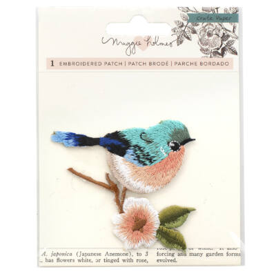 Crate Paper - Maggie Holmes Flourish Embroidered Bird Patch