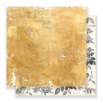 Crate Paper - Maggie Holmes Flourish 12x12 Paper - Goldenrod
