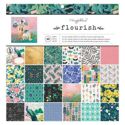 Crate Paper - Maggie Holmes Flourish 12x12 Paper Pad