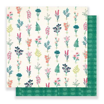 Crate Paper - Maggie Holmes Flourish 12x12 Paper - Perennial