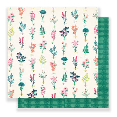 Crate Paper - Maggie Holmes Flourish 12x12 Paper - Perennial