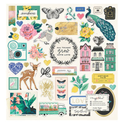 Crate Paper - Maggie Holmes Flourish 12x12 Chipboard Stickers