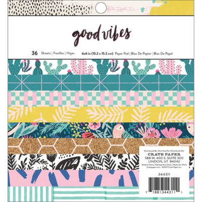Crate Paper - Good Vibes 6x6 Paper Pad