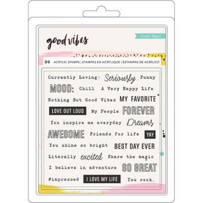 Crate Paper - Good Vibes Clear Stamps