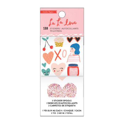 Crate Paper - La La Love Sticker Roll (180 Piece)