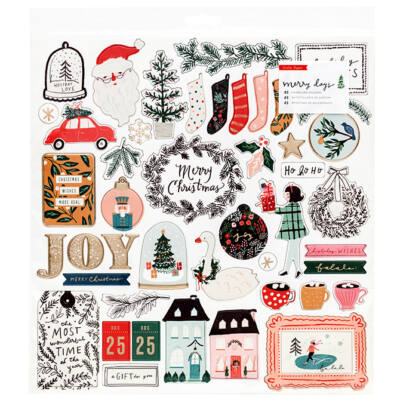 Crate Paper - Merry Days 12x12 Chipboard Stickers