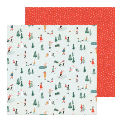 Crate Paper - Merry Days 12x12 Paper - Frosty Days