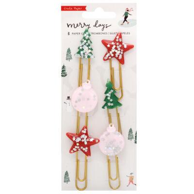 Crate Paper - Merry Days Decorative Clips 6/Pkg