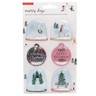 Crate Paper - Merry Days Shaker Stickers 6/Pkg