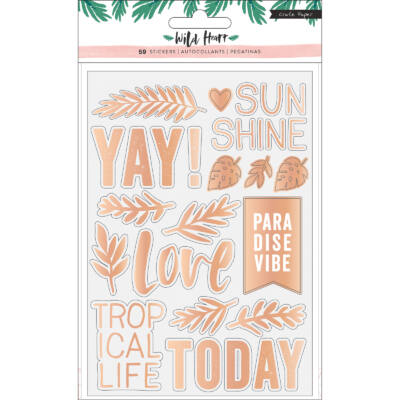 Crate Paper - Wild Heart Clear Foil Stickers