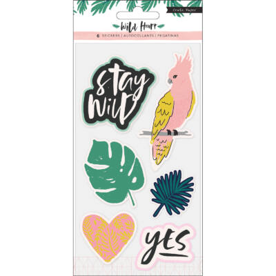 Crate Paper - Wild Heart Embossed Puffy Stickers