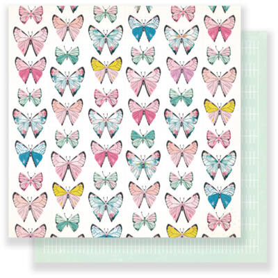 Crate Paper - Maggie Holmes Chasing Dreams 12 x 12 Double Sided Paper - Monarch