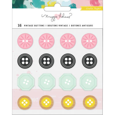 Crate Paper - Maggie Holmes Chasing Dreams Vintage Buttons