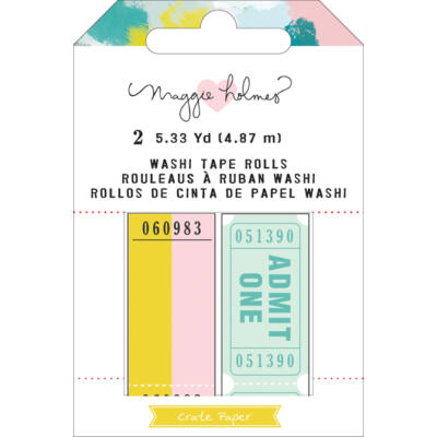 Crate Paper - Maggie Holmes Chasing Dreams Tickets Washi Tape