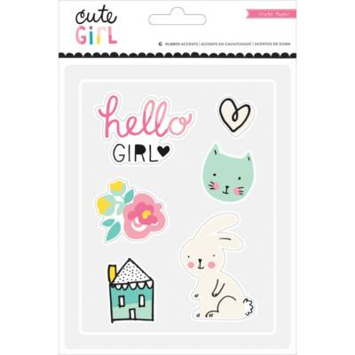 Crate Paper - Cute Girl Rubber Accents