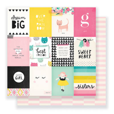 Crate Paper - Cute Girl 12 x 12 Double Sided Paper - Sweetheart